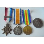 Great War 1914 Old Contemptible and King's Company Ypres Salient 3rd July 1916 Casualty trio awar...