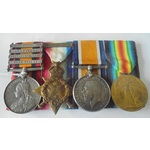 An interesting South Africa Boer War and Great War 1914 Old Contemptible's group awarded to Priva...