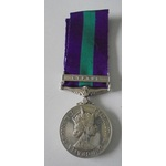 General Service Medal 1918-62, Eliz II, clasp Cyprus named to Lieutenant M.J. Loneghan, Queen Ale...