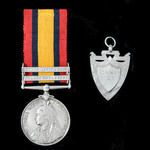 An interesting Queen's South Africa Medal 1899-1902, 2 Clasps: Orange Free State, South Africa 19...