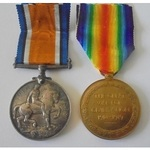 Major F.A. Peacock, 31st Battery, Canadian Field Artillery. British War Medal and Victory Medal b...
