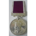 A Regular Army Long Service and Good Conduct Medal, GVI 1st type cypher, awarded to Trooper H.R. ...