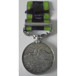 India General Service Medal 1908-1935, EVII bust, clasp: North West Frontier 1908, awarded to Ser...