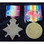 A 1914 Star and Victory Medal pair awarded to Private S. Payne, 2nd Battalion, Royal Sussex Regim...
