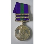 General Service Medal 1918-62, Eliz II, two clasps, Near East and Cyprus named to 23503775 Privat...