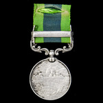 India General Service Medal 1908, Geo V, clasp: Afghanistan N.W.F. 1919; (9889 DRMR. H. ABNETT, 1...