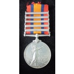 Queens South Africa Medal, five clasps, Transvaal, Cape Colony, Orange Free State, South Africa 1...