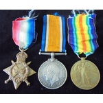 Great War 1914-1915 trio awarded to Rifleman A. Allchin, Rifle Brigade, who was present out on th...