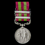 India General Service Medal 1895, VR, two clasps, Punjab Frontier 1897-98, Tirah 1897-98; (4951 P...