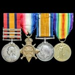 A fine South Africa Boer War and Great War group awarded to Lieutenant H.G. Webb, 11th Service Ba...