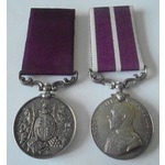 Army Long Service and 'Annuity' award Army Meritorious Service Medal pair awarded to Sergeant Maj...