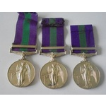 Lot of 3 General Service Medal 1918-62, Eliz II, clasp Cyprus named to: a) 23531588 Private F.J. ...
