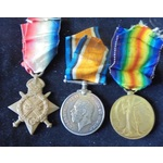 A 1915 Star Trio and Memorial. | Wellington Auctions