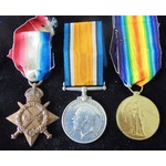 A Great War Manchester Pals Battle of the Somme Attack at Guillemont casualty trio awarded to Pri...