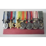 Unattributed Group of 7 Miniature Medals comprising; Distinguished Service Medal, Geo VI, 1939-45...