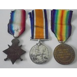 A 1915 Star Trio to Private W.   Wellington Auctions