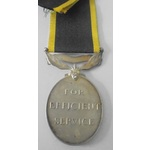 Efficiency Medal, Geo VI, fixed Territorial Suspender to 3771479 Private T. Atkinson, Royal Pione...