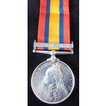 Queens South Africa Medal 1899-1902, clasp: Natal, awarded to Private J. Daly, 2nd Battalion, Wes...