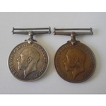 A Mercantile Marine Pair to Ernest J. Morrison, whose Brother was aboard HMS Dunraven and won the...