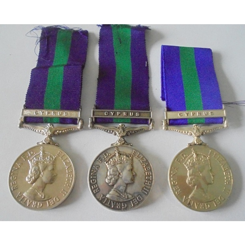 Lot of 3 General Service Meda. | Wellington Auctions