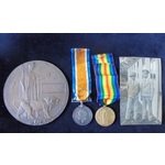 Private W. Evel, Royal Fusiliers, who died of wounds received at Ypres on 16th October 1918 whils...