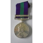 General Service Medal 1918-62, Eliz II, clasp Cyprus named to 23533999 Fusilier E. Williams, Roya...