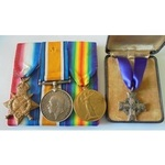 A 1914-15 Star Trio and Canadian Memorial Cross to Private J. Richmond, 49th Canadian Infantry, a...