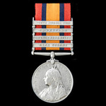 Queens South Africa Medal, four clasps, Cape Colony, Orange Free State, Transvaal, South Africa 1...
