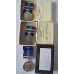 Lot of 3 boxed General Service Medal 1918-62, Eliz II, clasp Cyprus named to a) 23235458 Corporal...