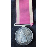 China Medal 1842, with straight bar suspender named (**JAMES CHALKLEY, 49TH REGIMENT FOOT**). Jam...