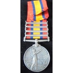 Queens South Africa Medal 1899-1902, four clasps: Cape Colony, Defence of Ladysmith, Orange Free ...