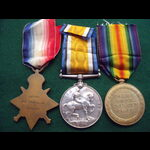 1914 TRIO to PTE / A.W.O.CL.2  ALLEN 2nd MIDD'X.REGT, later 2nd LONDON REGT