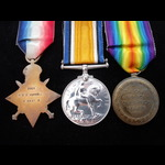 1914/15 TRIO to 2569 PTE Charles MURRELL 2nd EAST KENT REGT ('The Buffs')  who served on the West...