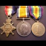 1914/15 Trio to SJT MORRIS 2nd Scottish Horse Yeomanry
