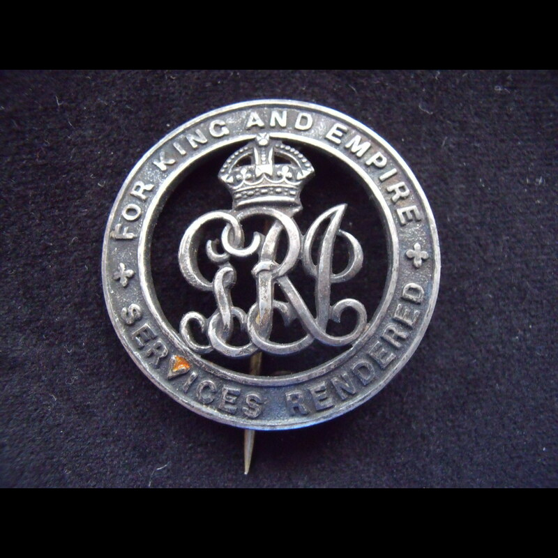 SILVER WAR BADGE to CPL AMBLE. | Great War Medals