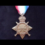 1914/15 STAR to G-2041 PTE William George MITCHELL 6th THE QUEEN'S R. Born Toxteth, Liverpool. KI...