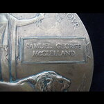 UNIQUE MEMORIAL PLAQUE to 2nd LIEUT Samuel George McCLELLAND 8th King's Own Scottish Borderers. A...