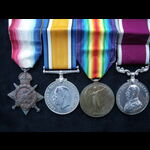 1914 TRIO & GvR ARMY LS&GC  MEDAL to PTE Henry William KELLY 3/RIF.BRIG., later GNR  R.A.