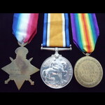 1914/15 Trio to Q.M.SJT WOOD . | Great War Medals