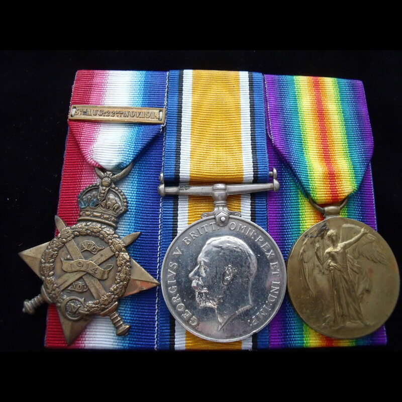 1914 TRIO to DVR Joseph Henry.   Great War Medals