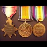 1914 Trio to PTE PELL 2nd Middlesex Regt (Wounded)