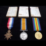 1914/15 TRIO to 9847 PTE Ernest BLANCHARD 5th WILTSHIRE REGT who served at Gallipoli in 1915 & wa...