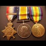 1914 Trio & Original Clasp to PTE HUNT 10th HUSSARS, later Tank Corps
