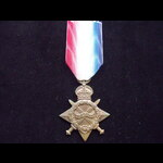 1914/15 STAR to 2555 PTE Albert BURROW 1/8th West Yorkshire Regiment - Was still serving with the...