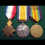 1914 TRIO to PTE ASHCROFT 2/E.LAN.R - awarded Military Medal (MM LG 6/1/17)