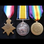 1914/15 TRIO to 21653 PTE H.J.   Great War Medals