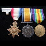 1914/15 TRIO to 87993 PTE Harry Smith OGLESBY Royal Engineers - Entitled to the Order of St.John ...
