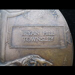 UNIQUE MEMORIAL PLAQUE to 2nd LIEUT Bryan Hill TOWNSLEY 9th WEST YORKSIRE REGT - KIA Somme 14/9/1...