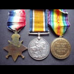 1914 TRIO to GNR CURLING 11th Brigade RFA - 7th Meerut Division, Indian Army.