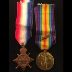 1914/15 STAR & VICTORY to CPL BEAVAN A.S.C. - awarded French Presidential Medal of Recognition & ...